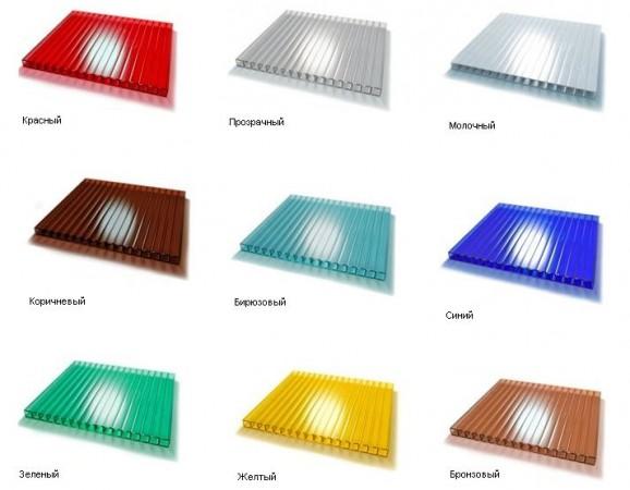 Цветовые решения по поликарбонату