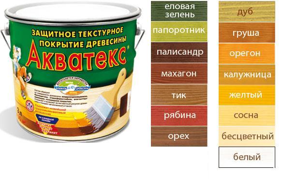 Цветовая палитка Акватекс